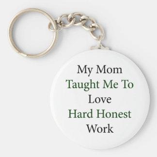 Minha mamã ensinou-me amar o trabalho honesto duro chaveiros