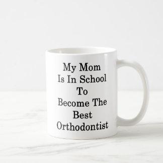 Minha mamã está na escola a transformar-se o caneca de café