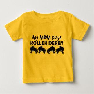 Minha mamã joga o rolo Derby, patinagem de rolo Camiseta Para Bebê