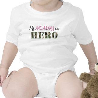 Minha MAMÃE é um herói Macacãozinhos Para Bebê