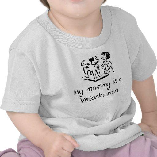 Minha mamãe é um t-shirt infantil veterinário