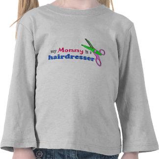 Minha mamãe é uma camisa da criança do cabeleireir tshirts