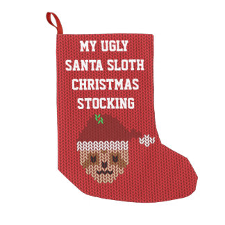 Minha meia feia do Natal da preguiça do papai noel Meia De Natal Pequena