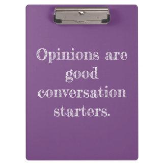 Minha prancheta das citações da opinião