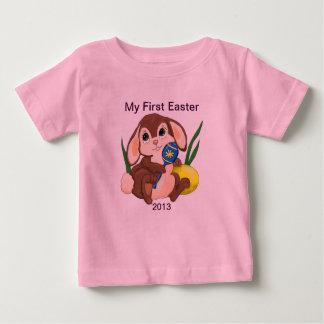 Minha primeira páscoa camiseta para bebê