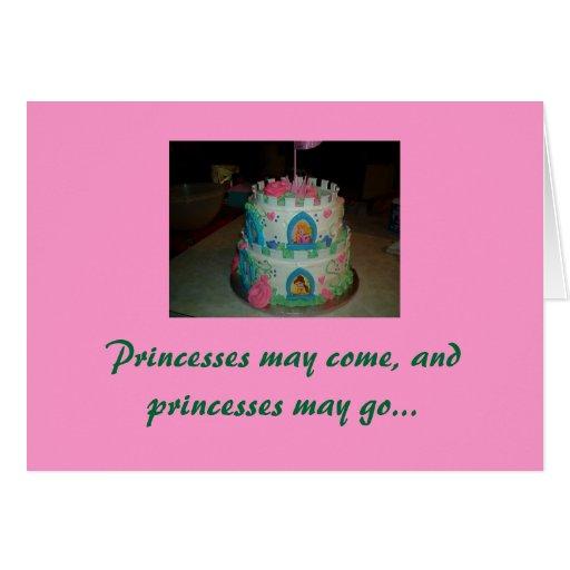 Minha princesa pequena, feliz aniversario cartao