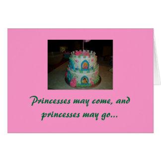 Minha princesa pequena, feliz aniversario cartão de nota