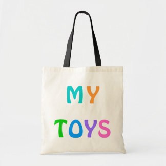 MINHA sacola dos BRINQUEDOS para crianças Sacola Tote Budget