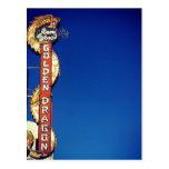 Minha vida do vintage - sinal de néon do dragão cartao postal