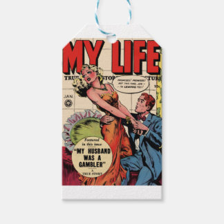 Minha vida etiqueta para presente