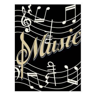 Minha vida musical cartão postal