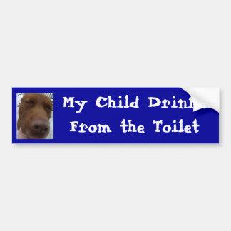Minhas bebidas da criança do toalete adesivo para carro