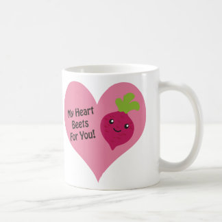 Minhas beterrabas do coração para você caneca de café