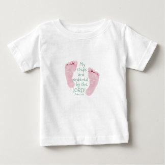 Minhas etapas são pedidas pelo senhor camiseta para bebê
