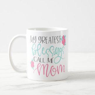 Minhas grandes bênçãos chamam-me caneca de café da