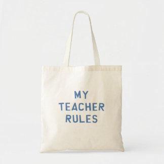 Minhas regras do professor sacola tote budget