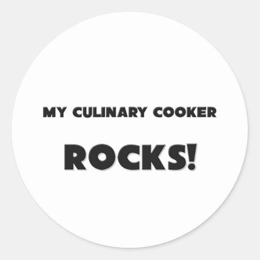 MINHAS ROCHAS culinárias do fogão! Adesivos Redondos