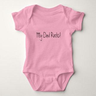 Minhas rochas do pai! body para bebê