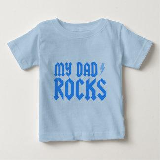 Minhas rochas do pai camiseta para bebê
