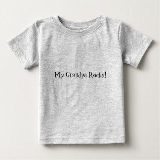 Minhas rochas do vovô! camiseta para bebê