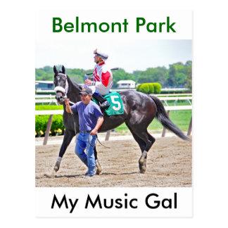 Minhas vitórias do galão da música em Belmont Park Cartão Postal
