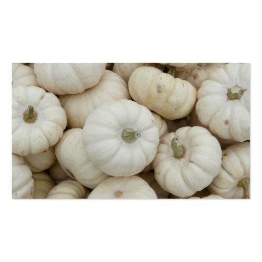Mini abóboras brancas cartoes de visitas