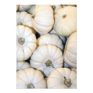 Mini abóboras brancas convite personalizado