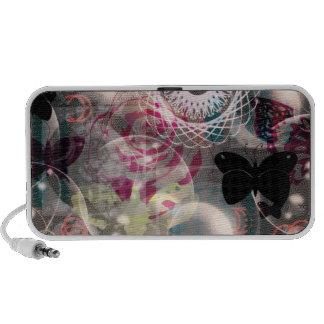 Mini auto-falante das borboletas boémias caixinha de som para notebook