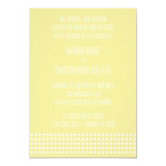Mini bolinhas que Wedding convites (amarelo)