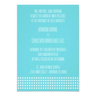Mini bolinhas que Wedding convites (cerceta)