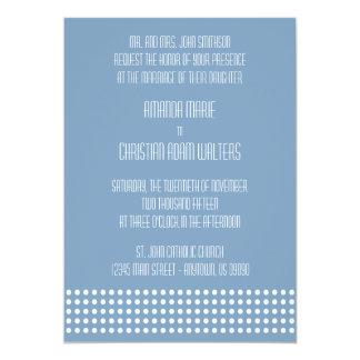 Mini bolinhas que Wedding convites (cinzas azuis)