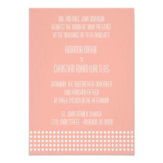 Mini bolinhas que Wedding convites (pêssego)