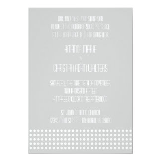 Mini bolinhas que Wedding convites (prata)