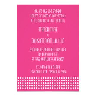 Mini bolinhas que Wedding convites (rosa escuro)