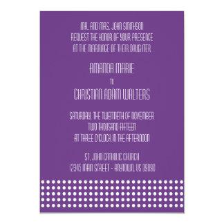 Mini bolinhas que Wedding convites (roxo escuro)