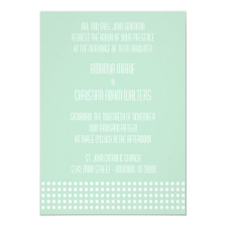Mini bolinhas que Wedding convites (verde