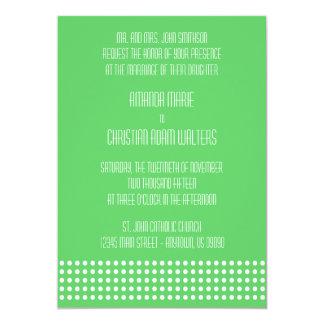 Mini bolinhas que Wedding convites (verde limão) Convite 12.7 X 17.78cm