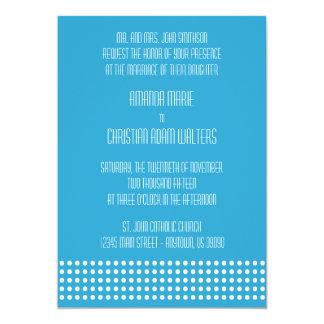 Mini bolinhas que Wedding os convites (azuis)