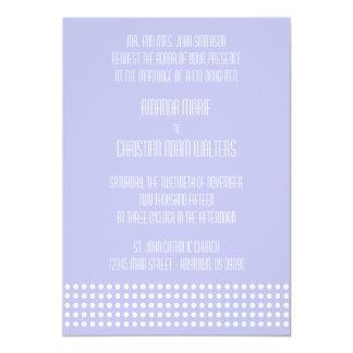 Mini bolinhas que Wedding os convites (violetas)