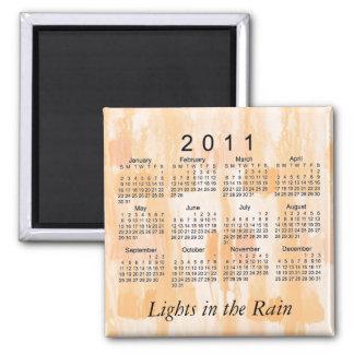 Mini calendário 2011 abstrato imã