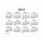 Mini calendário 2014 com feriados