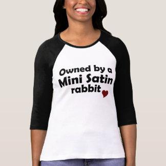 Mini camisa do coelho do cetim tshirt