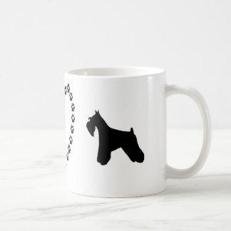 Mini caneca de café do amor do Schnauzer