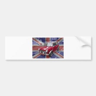 Mini carro clássico britânico adesivo para carro