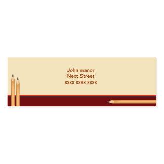 Mini cartão de negócios incorporado cartão de visita skinny