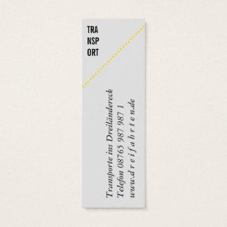 Mini cartão de presentação