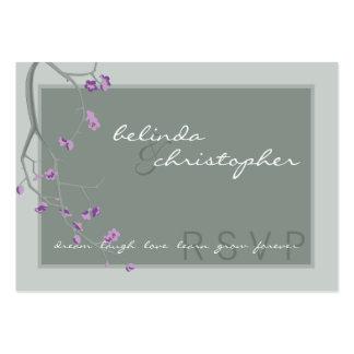 MINI CARTÃO DE RESPOSTA DE RSVP:: flores de cereje Cartão De Visita