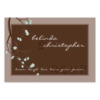 MINI CARTÃO DE RESPOSTA DE RSVP:: flores de cereje Modelos Cartão De Visita