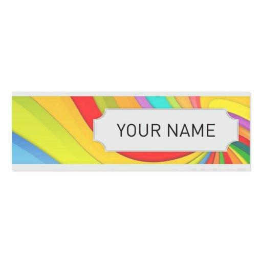 mini cartão de visita