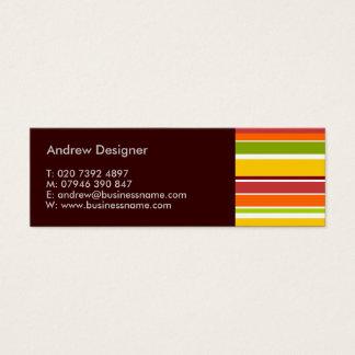 Mini cartão de visita das listras retros